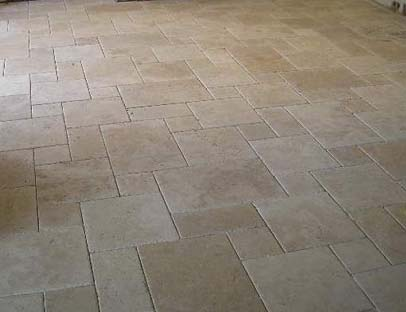 Light Travertine Brushed Distressed Edge