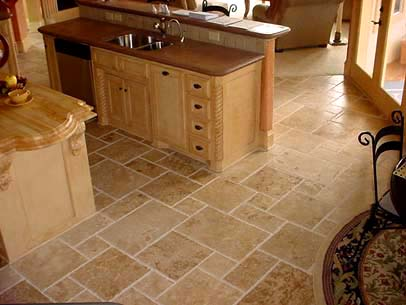 Ephesus Tumbled Travertine Opus Pattern